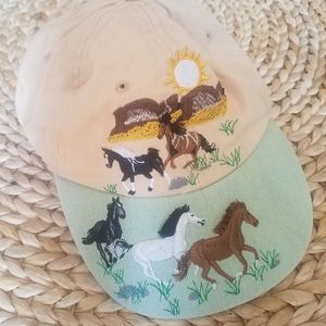 Vintage Wild Horse and Mountain Cap hat